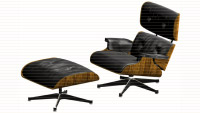 Eames Lounge Chair, Modeling & Rendering